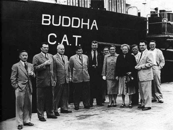 Group in Front of Buddha (CAT Pictorial -Joe Rosbert)